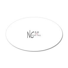 NC20TownHallLogoMstr 20x12 Oval Wall Decal