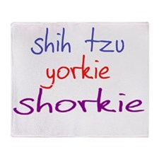 shorkie_black Throw Blanket