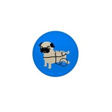 Pug on Wheels! Mini Button (100 pack)