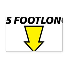 footlong Rectangle Car Magnet