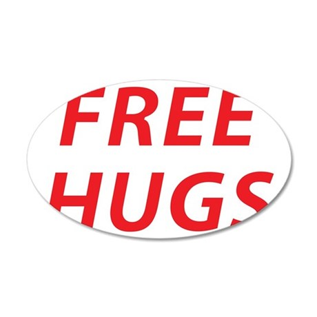 free hugs 2 35x21 Oval Wall Decal