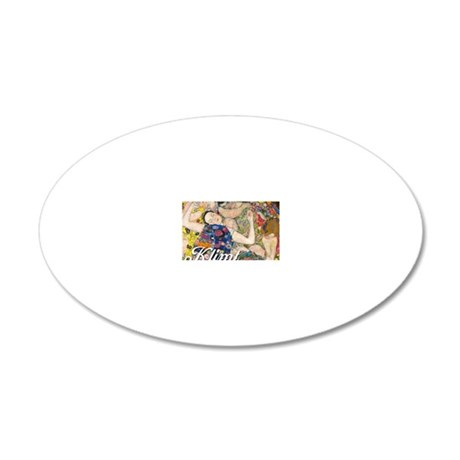 Klimt Cal Cover 2 20x12 Oval Wall Decal