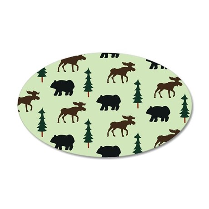 Bear Moose Laptop Skin 35x21 Oval Wall Decal