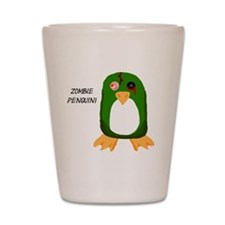 Zombie Penguin Shot Glass