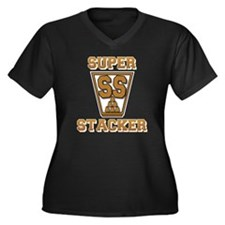 gold2, SS Cu Women's Plus Size Dark V-Neck T-Shirt