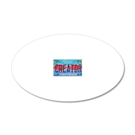 PlateCafe 20x12 Oval Wall Decal