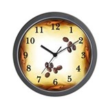 Coffee Bean Wall Clock with numbers