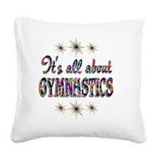 GYM Square Canvas Pillow