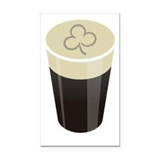 shamrock pint dark Rectangle Car Magnet