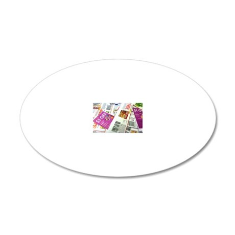 Coupon Scatter 20x12 Oval Wall Decal