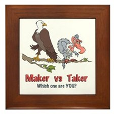 Maker vs Taker Framed Tile