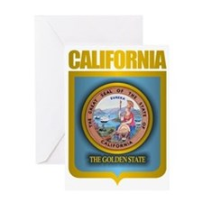 California (Gold Label) Greeting Card