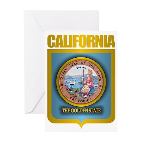 California (Gold Label) Greeting Card
