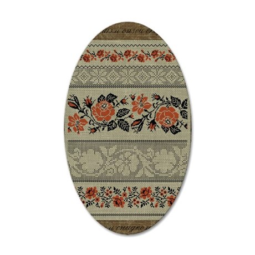 Ukrainian Embroidery 35x21 Oval Wall Decal