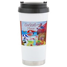 Beach Cocktails Ceramic Travel Mug