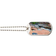 slide rock waterfalls_text top Dog Tags