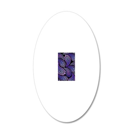 purple paisley slider 20x12 Oval Wall Decal