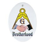 Masonic Brotherhood Oval Ornament