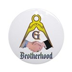 Masonic Brotherhood Ornament (Round)