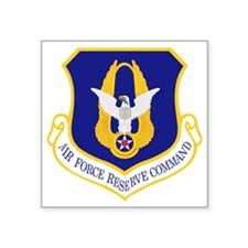 "Air-Force-Reserve-Cmd Square Sticker 3"" x 3"""