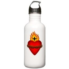 SacredHeart_LargeButto Water Bottle