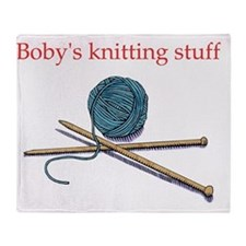 bobys-knitting Throw Blanket