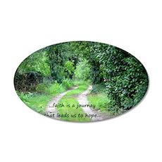 Faith is a Journey 35x21 Oval Wall Decal