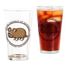wombat3 Drinking Glass