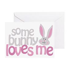somebunny_dark Greeting Card