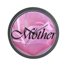 Pink Rose Mother Wall Clock
