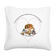 humane society trans copy Square Canvas Pillow