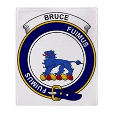 Bruce Clan Badge Throw Blanket