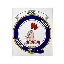 Brodie Clan Badge Throw Blanket