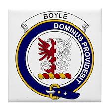 Boyle Clan Badge Tile Coaster