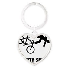 Gravity Sucks Bike Black Heart Keychain
