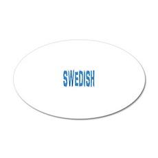 SWEDISH 20x12 Oval Wall Decal
