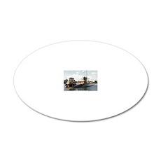 jadams rectangle magnet 20x12 Oval Wall Decal