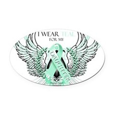 I Wear Teal for my Daughter Oval Car Magnet