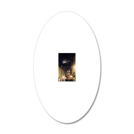 quebec_street_kindle 20x12 Oval Wall Decal
