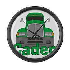 caden-b-trucker Large Wall Clock