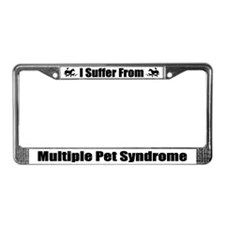 Multiple Pet Syndrome License Plate Frame