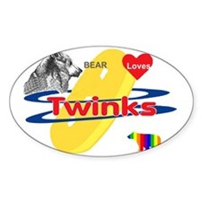 Bear Loves Twinks Decal