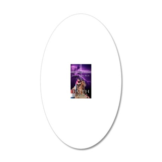 barrel racing iphone case 20x12 Oval Wall Decal