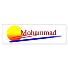 Mohammad Bumper Car Sticker