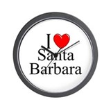 """I Love Santa Barbara"" Wall Clock"