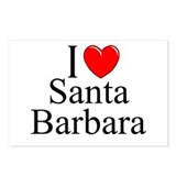 &quot;I Love Santa Barbara&quot; Postcards (Package of 8)
