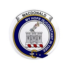 "MacDonald (Clan Ranald) Clan Badge 3.5"" Button"