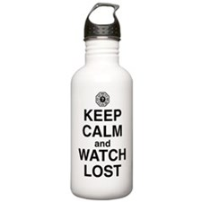 keep-calm-watch-lost-l Water Bottle