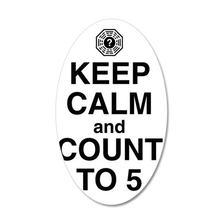 keep-calm-count-5-light 35x21 Oval Wall Decal