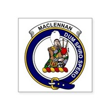 "MacLennan Clan Badge Square Sticker 3"" x 3"""